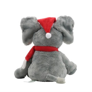 Peek-A-Boo-Elephant-Play-Music-Plush-Toys-Soft-New-Ear-Jitter-Christmas-hat-Elephant-Educational